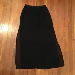 Black H&M Sheer Maxi Skirt
